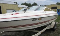 Price includes a Volvo 4.3L V-6 engine, EZloader trailer, cover, stereo, fiberglass floor with snap in carpet, add on fiberglass rear sundeck,depth finderand ladder. Sale Price $11,999.00. Clearance $10,999.00 16WR95Z00 Nominal