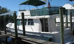 (LOCATION: Tarpon Springs FL) This Mainship 39 Trawler is a comfortable motor yacht designed for casual coastal cruising. She comes with flybridge with full enclosure, sundeck, teak finished interior with roomy salon, full galley, and two staterooms. The