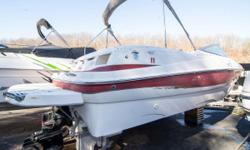"""2003 Maxum 2400 SD bow rider with a Mercruiser 5.0 MPI and Alpha drive. LOA: 24 / Beam: 8'6"""" / Weight: 5,438 pounds / Color: White & Red / Hours: 238 Clean one owner 2003 Maxum 2400 SD bow rider with only 238 hours. Trade inspection completed recently"""