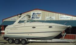 2003 Monterey 265 Cruiser, 2003 Monterey 265 Cruiser on the Pensacola, Florida Gulf CoastThere is full-size headroom aboard the 265. Loaded with appointments, it is one of the most livable 26-footer on the water. Slip into the plush comfort of the