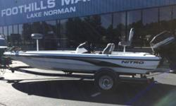 2003 Nitro NX 898 19' Nitro NX898 With a Mercury 200 XR6 19' Nitro NX898 With Non Skid Flooring (no carpet) Mercury 200 XR6 In Good Running Condition Matching Single Axle Trailer Lowrance Elite 7 On Bow Lowrance Hook 9 Touch On Console Hot Foot Jackplate