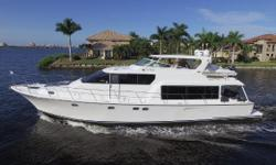 This Pacific Mariner 65 is truly a fully equipped turnkey yacht. 'SeaRenity' has undergone extensive upgrades to all systems over the last 6 months. Powered by Caterpillar 3406 800hp diesels with twin 20k and 8k Northern Lights generators, Naiad