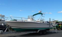 Well maintained and ready to fish. Very clean and plenty of storage up front and through out the whole boat. Beam: 8 ft. 6 in. Standard features: 2003 Yamaha F225 150 gallon Gas Tank 20 Gallon Fresh Water System Enclosed Toilet and Sink Live Well Raw