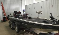 Limited Edition - Call Today For More Details! Comes equipped with Lowrance fish finder, Minn Kota Maxxum 80 trolling motor, trim lever, on-board battery charger, Jack Plate, spare tire, and a cover. Especially created to showcase a rich heritage of