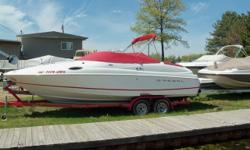 Really nice 2003 Regal 2450. This cuddy is ready to go. 5.7 Volvo Penta gives this boat plenty of power. Trades considered. ACCESSORY ANCHOR W/LINES: 1 BOW, 1 STERN CABIN SLEEPS CANVAS CAMPER CANVAS COCKPIT COVER DECK ANCHOR DAVIT DECK SUN PAD ELECTRIC