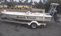 Great flats boat with a Yamaha 130 with only 175 hours on the engine. It has a poling platform, Trolling motor, Push Pole, and fish finder Beam: 7 ft. 1 in. Depth fish finder; Gps loran;