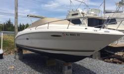 Low, low hours, 81.4 hours total, 2003 225 Sea Ray Weekender Nominal Length: 24' Length Overall: 24' Max Draft: 3.1' Drive Up: 1.7' Draft: 3 ft. 1 in. Beam: 8 ft. 6 in. Fuel tank capacity: 50 Water tank capacity: 8