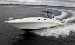 Powered By Twin Mercruiser 8.1s Horizon V-Drive Inboards, Updated Vesselview 4 Engine Readout, New Simrad Chart/GPS, Raymarine Radar, 5kW Kohler Generator, Perfect Cruising Vessel Nominal Length: 34' Length Overall: 37.5' Drive Up: 3.1' Engine(s): Fuel