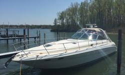 Come cruise on Lake Erie with the 41' Sea Ray Express Cruiser! Enjoy open bow seating with the ability to fish easily and comfortably. The salon seating allows you to relax enjoyably with the open concept, along with the finished galley. Two Owners Since