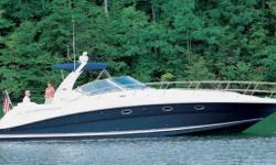 This 420 was brought to California from Michigan approximately 6 years ago. Her engine room shows her freshwater life.  Built on a deep-V hull with prop pockets and a relatively wide 14-foot beam, the luxurious two-stateroom, two-head floorplan of