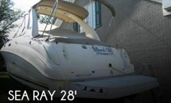 Actual Location: Norfolk, VA - Stock #049814 - If you are in the market for a cruiser, look no further than this 2003 Sea Ray 280 Sundancer, just reduced to $43,900.This boat is located in Norfolk, Virginia and is in great condition. She is also equipped
