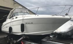 Twin - MerCruiser 5.0L MPI Engines w/Bravo III Drives, Heat & AC, Generator! GPS/Fish-Finder w/Radar, VHF Radio, and More! In the Water and Ready to Go!!! Lots of New Equipment! G&S Maintained! Beam: 10 ft. 5 in. Generator mfr: Kohler 5E-BBG Hull color: