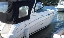New to the market and priced to sell fast, this 2003 280 SeaRay Sundancer with twin Mercruiser 4.3 L engines and Bravo 1 outdrives is located in Westbrook Connecticut. The SeaRay 280 Sundancer is a high style express cruiser which combines sleek profile