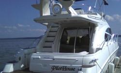 USED BOAT - FRESH WATER BOAT - WELL MAINTAINED AT PWM Boat Has Had a Current Survey 1000-Hour Service Performed Bow Thruster Satellite TV Radar Autopilot Upper and Lower Helm Stations Wood Flooring in Galley and Salon Teak in the Cockpit Windlass VHF