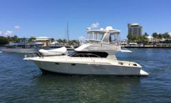 """low hour Volvo Diesels with bow davit and 10'6"""" AB dinghy in excellent condition Seller will consider trades This extremely clean, well designed 2003 42' Silverton Convertible won't be on the market long. She's spacious,"""