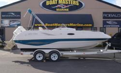 2003 SMOKERCRAFT VECTRA 215 PACKAGED WITH A 200HP EVINRUDE ENGINE & TANDEM AXLE LAODMASTER TRAILER! Hull color: White Teal Stock number: used1322