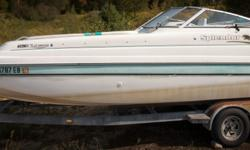 Offered for sale is a Pre-Loved 2003 Splendor 240 Platinum & Double Axle Galvanized Trailer by Rivett's Marine Recreation & Service, Inc. In Old Forge, NY. Pricing Boat & Trailer - $16,720 Exterior Color -White with Seafoam accent Canvas - Seafoam