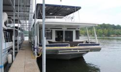 2003 Stardust 84 x 17 House Boat TURN KEY!! This low hour, 3-stateroom, 2-bath house boat has been transformed into a showplace!  New flooring, new stainless steel appliances, wine cooler, shiplap accent walls, painted cabinets, beautiful bed linens,