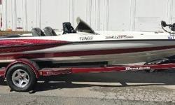 The Triton TR20 features one of the fastest hulls ever made, along with great handling. This boat is loaded and tournament ready, equipped with Lowrance HDS electronics, a Hydrowave, a Minn Kota Maxxum trolling motor, and powered by an Evinrude 225. New