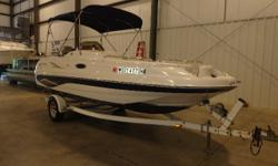 Great family day boat for either inland lakes or big lake adventures. Boat features a docking lights, Bimini top, Cockpit cover and enclosed head compartment.CANVAS BIMINI TOP CANVAS COLOR: BLUE COCKPIT COVER DECK ANCHOR W/LINES SKI TOW TRANSOM SHOWER