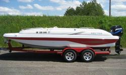 Powered by a Mercury 200HP Outboard. Includes a Bimini Top, Cockpit Cover and Custom Tandem Axle Trailer with Brakes.....Call PACIFIC POWER BOATS..... 503-288-5003