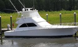 BEAUTIFUL 52 VIKING CONVERTABLE ESTATE WANTS BOAT SOLD! ONLY 2000 HOURS ON V-12 1300 HP MANS This Viking 52 Convertible provides excellent performance and lavish accommodations which makes this a favorite with sportfishing and cruising enthusiasts alike.