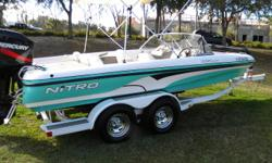 2004 Sport Nitro 288. This boat came from Arkansas in an estate sale. The boat looks brand new. 200 Mercury EFI Engine, Trolling Motor guide, 67 LB Thrust Pro Series, 6700, Double axle trailer with mag wheels, with swing away draw bar, bimini top, transon