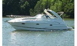 200428DORAL PRESTANCIA CABIN CRUISER 2004. DRAMATIC PRICE REDUCTION! Although it is a 2004 model, this cruiser was purchased brand new in 2006. It has been kept on a lift in a covered slip since new, has LESS THAN 100 hours and is a fresh