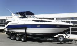 PRICE JUST REDUCED TO $46,900! THIS VESSEL IS A BANK REPO! Vessel has ONLY been in fresh water! Twin MerCruiser 350 MAG MPI 300 hp fuel-injected engines, aprx 262 port hours; aprx 257 starboard hours Twin Bravo III dual-prop sterndrives w/stainless steel