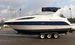 2004 Bayliner 305 With just over 30 feet of length, six and a half feet of headroom and a remarkable 11-foot beam, the Bayliner 305 gives new meaning to the term elbow room. Even the helm seat is big enough for two. Relax in style with live-aboard