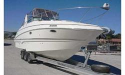 31' 2004 LARSON 310 CABRIO cruiser for sale in Central Florida. T his low hours 2004 Larson 310 Cabrio has been kept inside, has not been kept in the water. You enter the roomy aft cockpit over the integrated swim platform. This aft cockpit affords