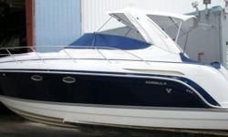 Key FeaturesThis Formula 34 PC is powered by twin 375-hp Mercruiser 496 MAG engines with Bravo III outdrives. They provide a cruising speed of 34 mph and a top speed of 49 mph. If you are looking for a family cruiser with style comfort and performance