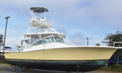 Stock ID: BLP277Specs Length Overall (LOA): 38' Features and OptionsACCESSORIES Outriggers Spot Light DRIVE SYSTEM Inboard Drive System ELECTRONICS AM/FM Stereo/CD Auto Pilot Fish Finder GPS Radar ENGINE Engine: Twin, Diesel GROUND TACKLE Windlass HEAD