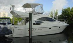 Description $20000 PRICE REDUCTION!!!!!! Owner Says Sell!!! 2004 39' Azimut Flybridge -- Beautiful Italian Styling in this Excellently Maintained Yacht with the Much Desired 2 Staterooom / 2 Head layout! Only 650 Hours on Twin CAT Diesel 3126's w/ 355hp