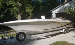 -Cabin Air and Heat -Generator (84) hours -Triple Mercruiser 525?s with approx. 375 -Top ends done approx. 25 hrs ago -Upgraded Exhaust (CMI Dry tails on rear motors) Silent choice eliminated to prevent reversion on back two motors -Bravo XR drives