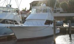 """Description Clean Clean Clean purfect size big enough to sleep 6 or 8 and cruise the coast small enough to catch fish! """"This 50' Hatteras Convertible needs Nothing""""! The canvas is good Flybridge is clean Interior is like new Cockpit is clean Fishing"""