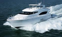 Vessel WalkthroughThe Hatteras 80 Motor Yacht was designed for maximum pleasure and feels like that of a much larger vessel. Entry to the vessel from astern is easily accessed via dual molded in transom stairs to a very comfortable aft deck. The aft deck