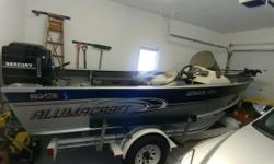 2004 Alumacraft Boat Co Navigator 175 CS 115 Mercury 8hp Mercury and 62lb thrust trolling motor 40 Gallon Fuel Single Console Lowrance Fish and Depth Finder Motors are older than boat however they run well New Batteries Tires are 1 Year Old Anchor Located