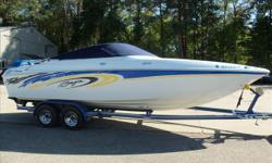 Beautiful 2004 Baja powered by a 496 Mercruiser. This boat is really clean and in great shape. Perfect for big water or cruising inland lakes. Trailer is in good shape. Trades Considered CANVAS BIMINI TOP COCKPIT COVER COCKPIT FILLER CUSHIONS DECK DECK