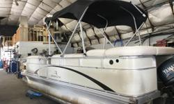 2004 Bennington 20', New Floor, New Vinyl On Floor, New Seat Covers, Very Clean, powered with a , 20 point inspection, 30 day warranty on motor only, for more information call and ask for Jerry. Nominal Length: 20' Length Overall: 20' Engine(s): Fuel
