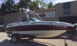 SOLD 2004 Bryant 190 Bow Rider Awesome Bryant!!! Wakeboard and all around boat will be great for sporting around your favorite Lake with!! This boat shines come see it for yourself!! Hull color: Red/White Stock number: Used-601