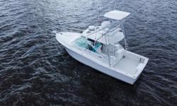 Just Reduced $199,000.  2004 35' Cabo Express with two Electronic Caterpillar 3126B diesel engines, 450 horsepower each. Topside including all decks were painted in  2017, the hull has just been detailed to a shine. Two New Garmin 7612