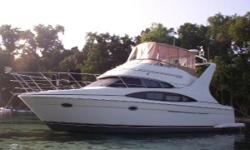 2004 Carver Mariner Sport Sedan located in Jacksonville, FL. Moored in a FRESH WATER lake with access to the intercoastal and destinations beyond. This exceptionally well designed and engineered motor yacht provides user friendly cockpit &