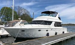 """BigReduction-Make offer. Yacht Controller Up to date on service New Batteries 2017 Sat TV Bow & Stern Thrusters Kohler 15kw Generator w/ 435 Hours Bridge davit """"Delmar"""" is a fine example of theCarver Motoryacht 460"""