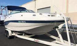 2004 Chaparral Sunesta deck boat with a Volvo Penta 5.7 GI 280 hp  Zieman trailer Nominal Length: 23' Length Overall: 23' Engine(s): Fuel Type: Other Engine Type: Stern Drive - I/O Beam: 8 ft. 6 in.