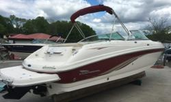 04 Chaparral 230 ssi with 350 Mag Mercruiser (400 hrs). One owner fresh water dry stored boat. Extended swim platform Snap out carpet Bimini top Depth finder Filler cushions Removable table Separate head compartment No trailer with this one but a new EZ