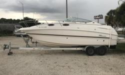 *** Stock # 5362 *** 2004 CHAPARRAL SIGNATURE 260 Volvo Penta 5.7 GXi 320 Hp ** A.C. ** Shore Power ** Refrigerator ** Bimini ** Microwave ** Trailer Engine(s): Fuel Type: Gas Engine Type: Stern Drive - I/O Quantity: 1 Beam: 8 ft. 6 in.