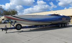 Price reduction of $20,000.Seller wants offers !!! Excellent condition and professionally maintained.Recent rebuilds with less than 20 hours on rebuilds. T-Sterling 1200's Dry Sump Engines,Mercury #6 Drives,K-Planes,Brand New Mercury Racing 5 Blade