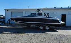 2004 Cobalt 262 equipped with Mercruiser 496 Mag inboard/outboard motor. Boat includes bimini top, cover, extended swim platform, snap carpet, bolster seats, rear ladder, auto. fire ext., Porta Pot, tower w/speakers, depth finder, radio w/rear controls,