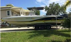 32ZF Donzi re-powered in 2009 with 250 four stroke Yamahas with warranties that just ran out last March, 2015. Less than 400 hours with 4 blade stainless Power Tech props. Twin Garmin 740's, VHF radio w/8 foot whip. Everything works, and